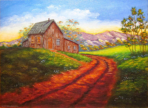 Cabin On The Hill v2 by Mary Sylvia Hines