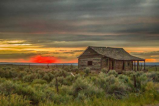 Cabin Sunset by Dawn Morrow