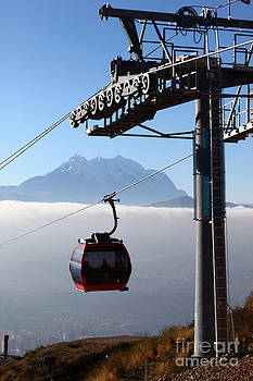 James Brunker - Cable Car Above the Andes