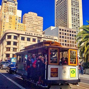 Cable Car On Union Square by Karen Winokan