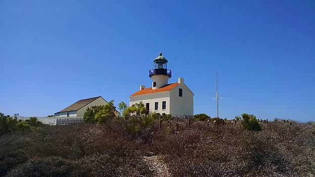 Cabrillo Lighthouse by Judy  Waller