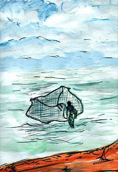 Caching fish  by M R I  Khokon