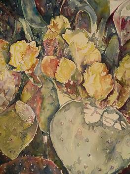 Cacti in Bloom X by Aleksandra Buha