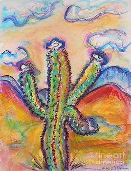 Cactus and Clouds by M c Sturman
