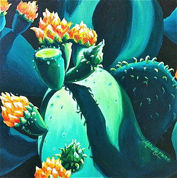 Cactus Blooms by Michelle East