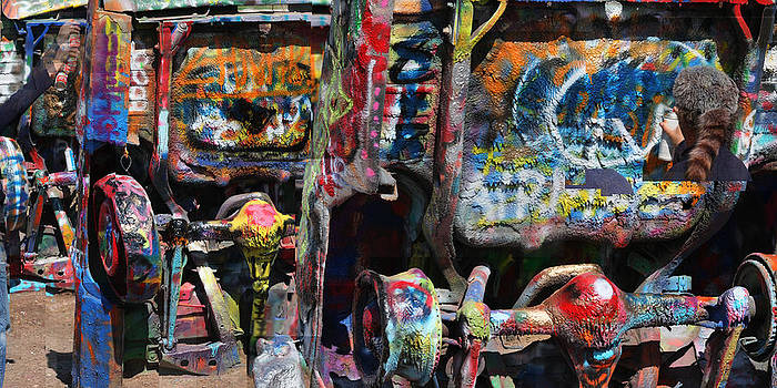 Cadillac Ranch Abstract by Stephen Farley