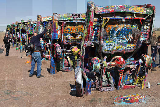 Cadillac Ranch Oblique by Stephen Farley