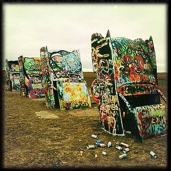 #cadillacranch #amarillo #graffiti by Greta Olivas