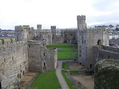 Caernarfon castle by Christopher Rowlands