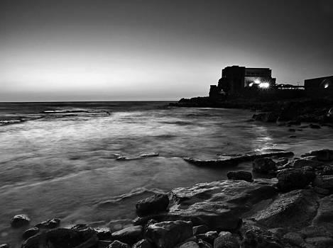 Caesarea  BW by Meir Ezrachi