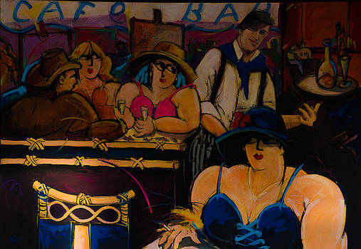 Cafe Bar in Montmartre by Dany Lison