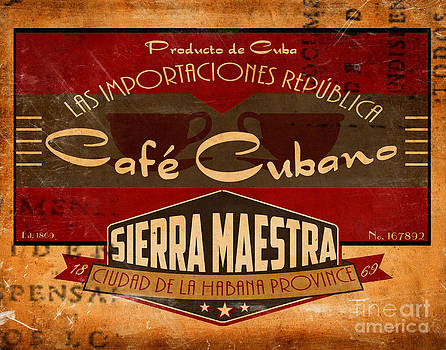 Cafe Cubano Crate Label by Cinema Photography