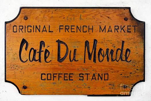 Paul Velgos - Cafe Du Monde Sign in New Orleans Louisiana
