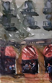 Cafe in Girona by Marisa Gabetta