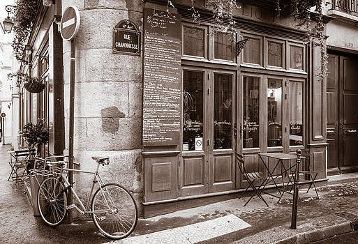 Cafe with Bicycle by Joseph Walsh