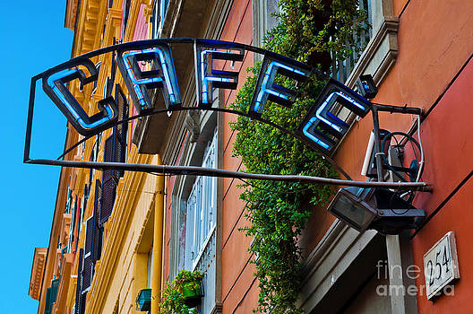 Caffe sign by Luis Alvarenga