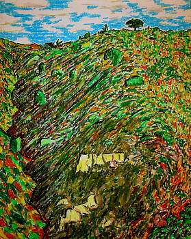 Cahuenga Peak pine and cliff California by David Olson