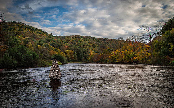 Cairn On The River by Anthony Thomas