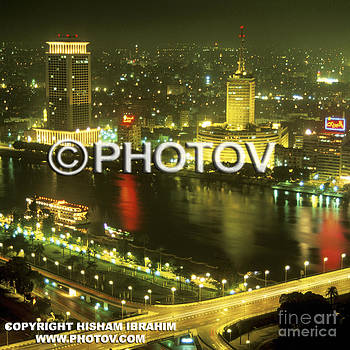 Cairo and The Nile River at Night - Egypt by Hisham Ibrahim