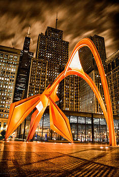 Calder Flamingo Downtown Chicago 2 by Michael  Bennett