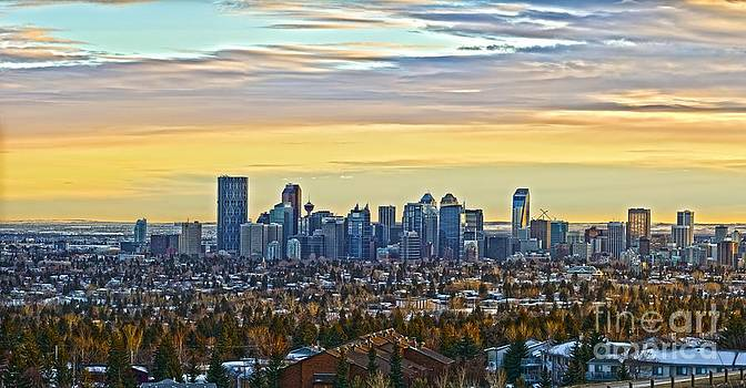 Calgary Sun Set by Edward Kovalsky