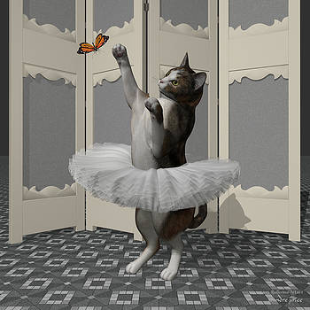 Calico Ballet Cat on Paw-te by Alfred Price