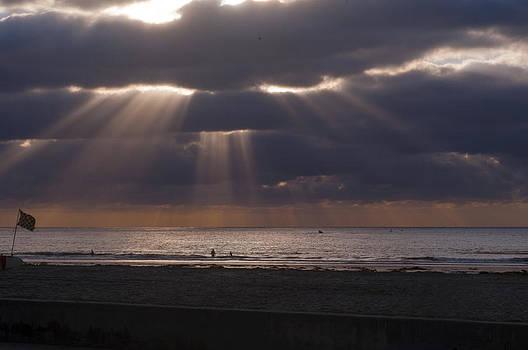 California Beach at Sunset by Greg Amptman