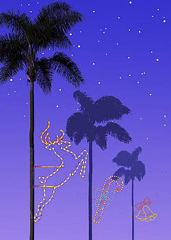 California Christmas Palm Trees by Mary Helmreich