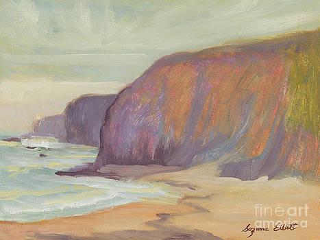 California Coastal Cliffs by Suzanne Elliott