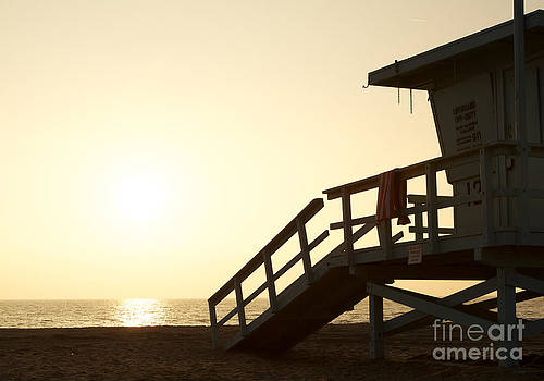 California Lifeguard Station at Sunset by David Lee