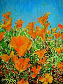 California poppy painting by David Olson