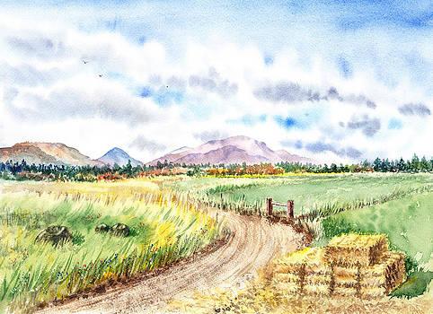 Californian Landscape Saint Johns Ranch of Mountain Shasta County by Irina Sztukowski