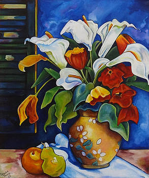 Calla Lilies and Poppies by Thome Designs