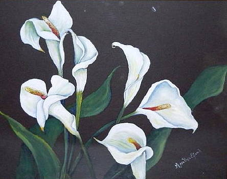Calla Lillies by Martha Efurd