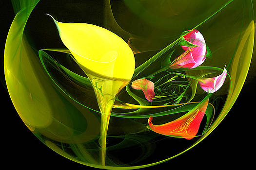 Calla Lily Bowl 1 by Lisa Yount