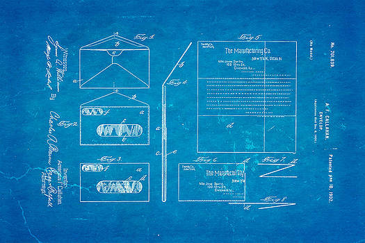Ian Monk - Callahan Window Envelope Patent Art 1902 Blueprint