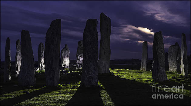 Callanish Stones Light Painting No1 by George Hodlin