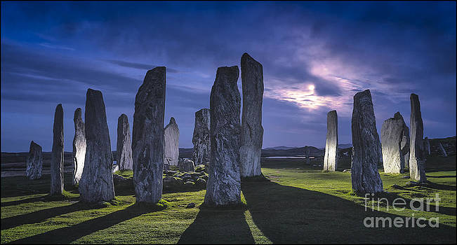 Callanish Stones Light Painting No2 by George Hodlin