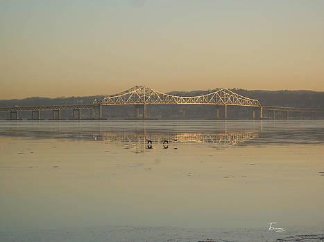 Calm at the Tappan Zee Bridge by Tammy Kuiper