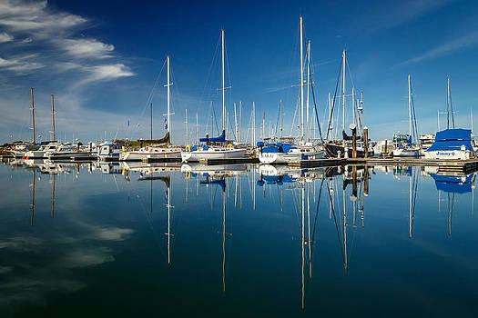 Calm Masts by James Eddy