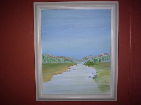 Calming Stream by Harold Messler