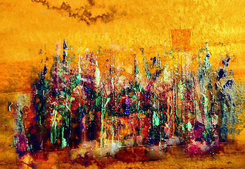 Valerie Anne Kelly - Camaraderie-Abstract Painting By V.kelly
