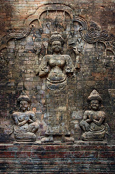 Cambodian brick wall by Ron Sumners