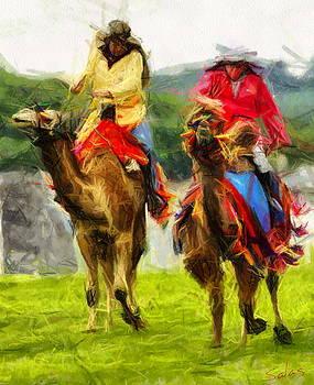 Camel Canter by Francisco Sanchez Salas