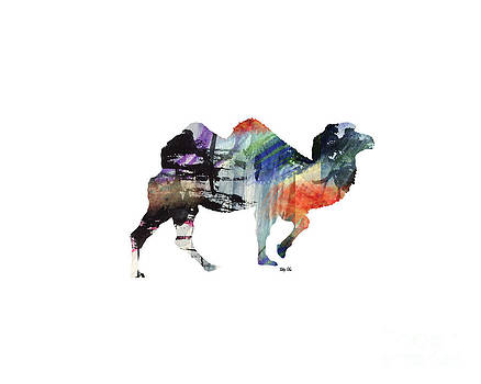 Camel- Silhouette Print by Trilby Cole