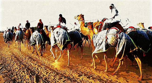 Camel Train by Peter Waters