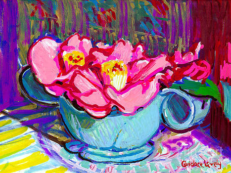 Candace Lovely - Camellias in Kitchen
