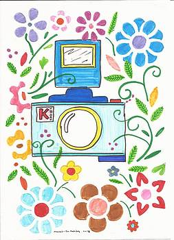 Artists With Autism Inc - Camera Behind the flowers