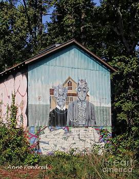Cameron County Painted Barn by Anne Pendred