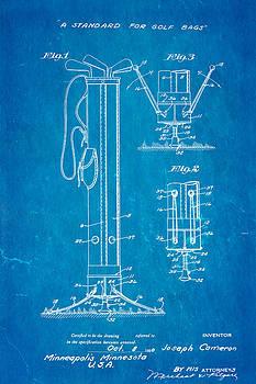 Ian Monk - Cameron Stand Golf Bag 2 Patent Art 1930 Blueprint